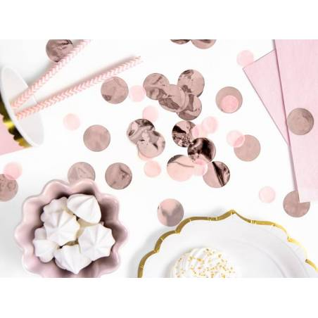 Cercles Confettis or rose 15g