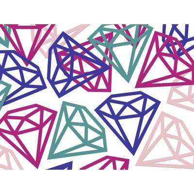 Diamants de confettis mélanger