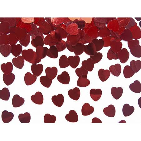 Confetti Hearts rouge 10mm 30g