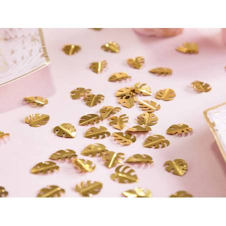 Feuilles de confettis métalliques or 15g