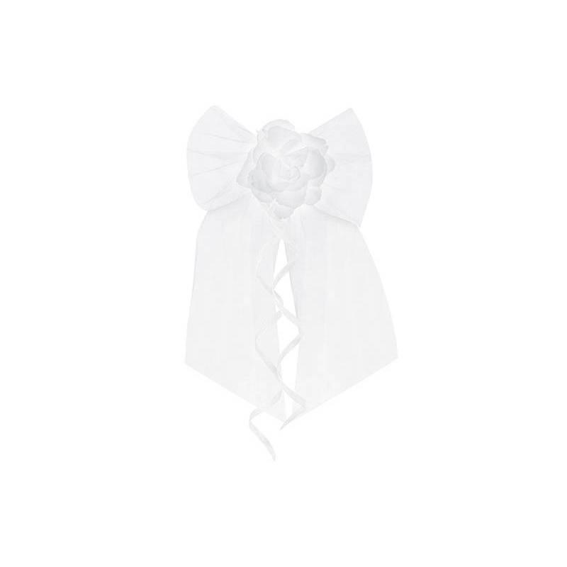 Archets avec une rose blanc 18cm
