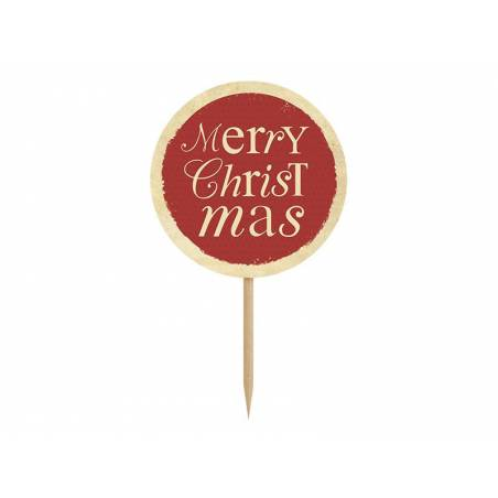 Cupcake Toppers Joyeux Noël 9.2cm