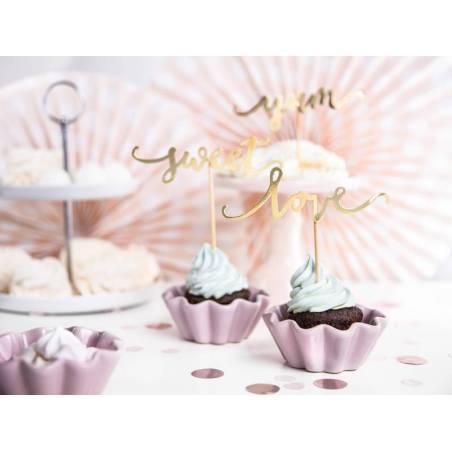 Garnitures pour cupcakes Love or 13cm
