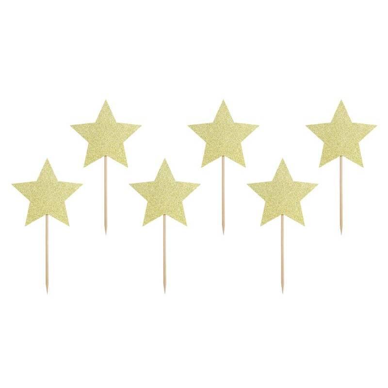 Garnitures pour petits gâteaux - Étoiles or 115 cm
