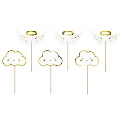 Garnitures à cupcakes - nuages et ailes 125 cm