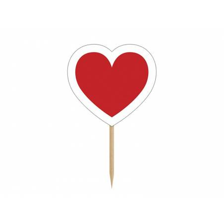 Cupcake Toppers Heart 10cm