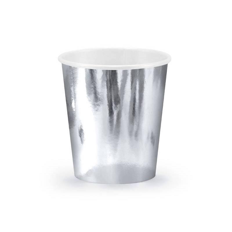 Gobelets en papier argent 180 ml