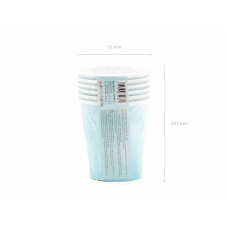 Coupes d'été turquoise 180 ml