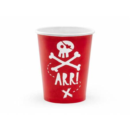 Gobelet Pirates Party rouge 220ml