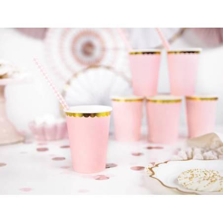 Tasses rose pâle 220 ml