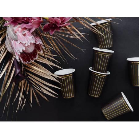 Gobelet Strips noir 260 ml