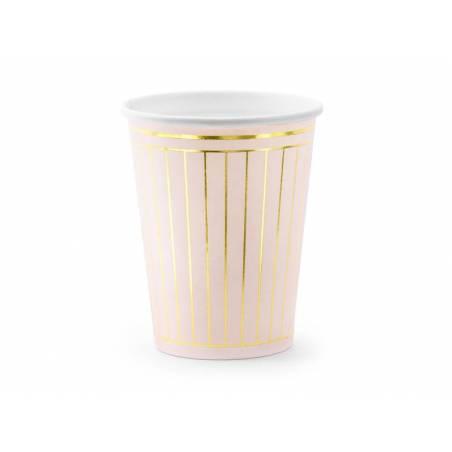 Gobelet Strips rose pâle 260 ml