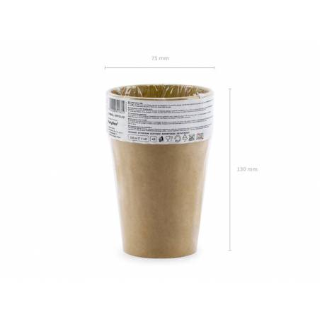 Gobelets en papier kraft 220 ml