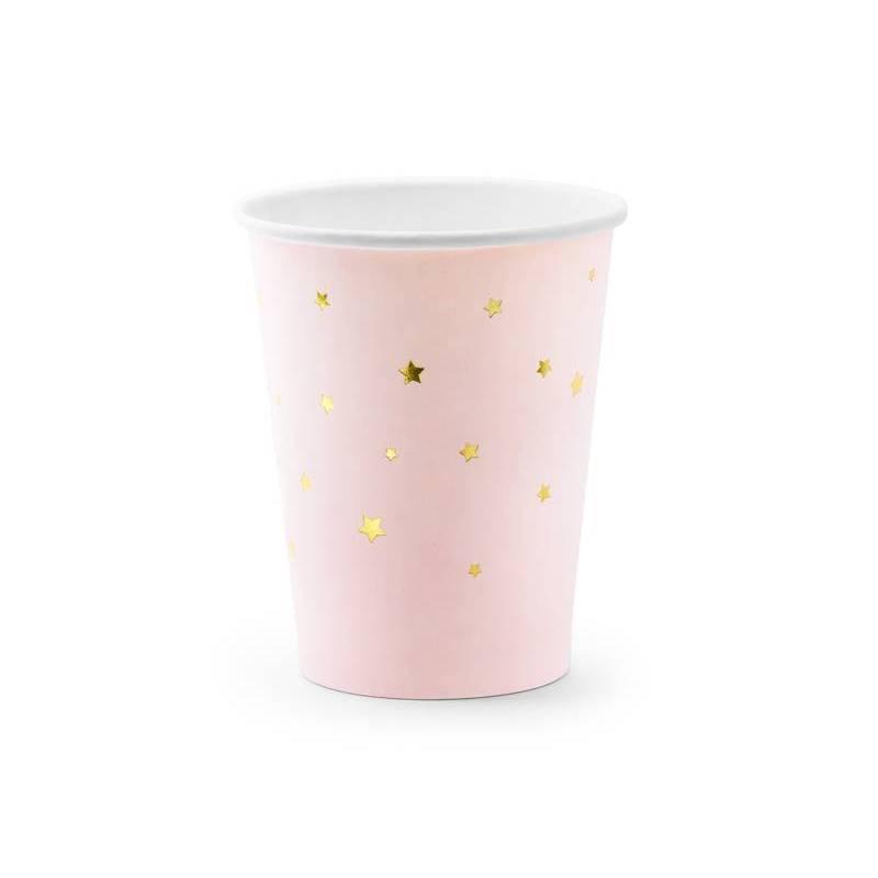 Tasses Étoiles rose pâle 260ml