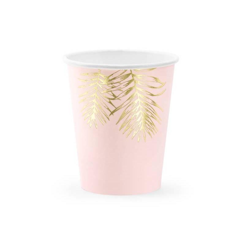 Coupes Feuilles rose pâle 220ml