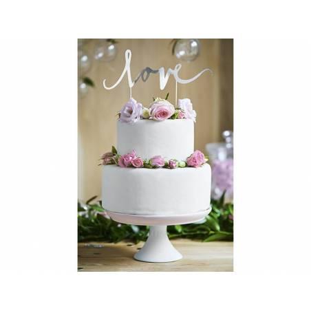 Gâteau Love argent 17cm