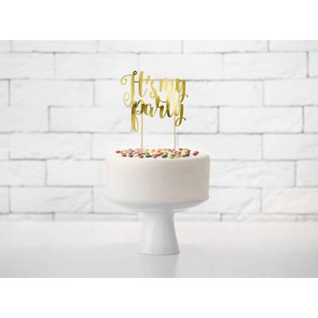 Gâteau C'est ma fête or 20.5cm
