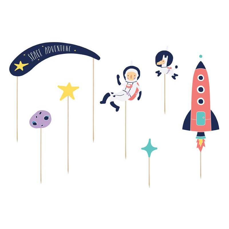 Cake Topper Space 9.5-24.5cm