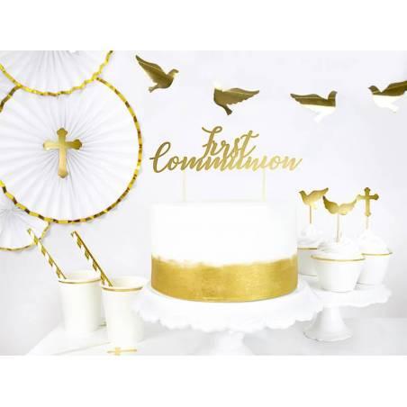 Cake topper Première Communion or 21cm