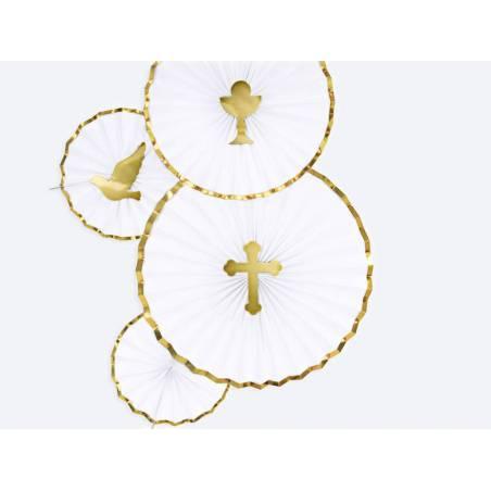 Garnitures pour gâteaux Première communion or 315 cm