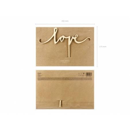 Wodden Topper Love 16cm