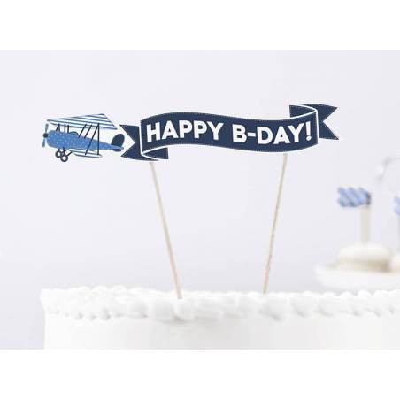 Cake Topper Little Plane hauteur env. 18 cm