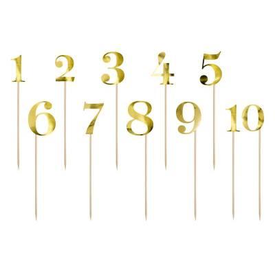 Numéros de table or 255-265 cm