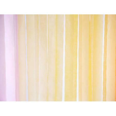 Serpentin à crêpe 5cm / 10m jaune clair