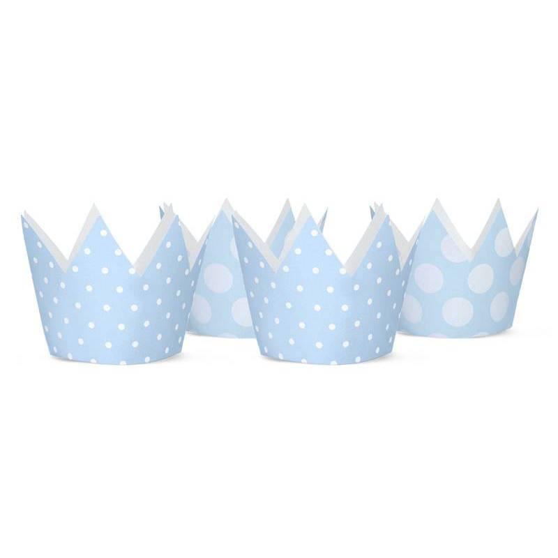 Couronnes de fête bleu ciel 10cm
