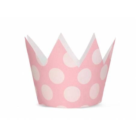 Couronnes de fête rose pâle 10cm