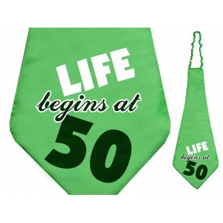 Tie La vie commence à 50 59cm