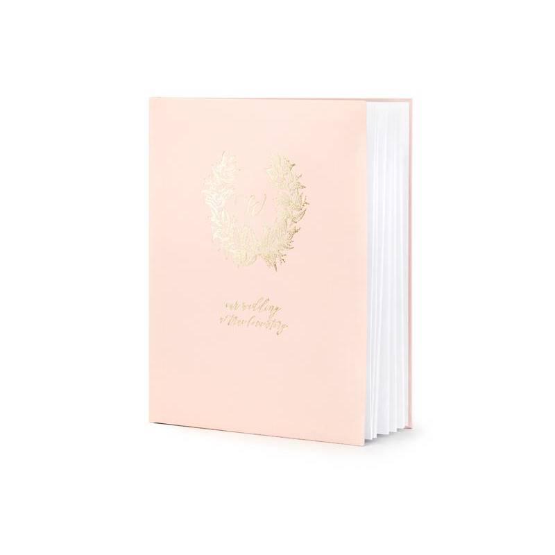 Couronne de livre d'or 20x245 cm rose poudré 22 pages