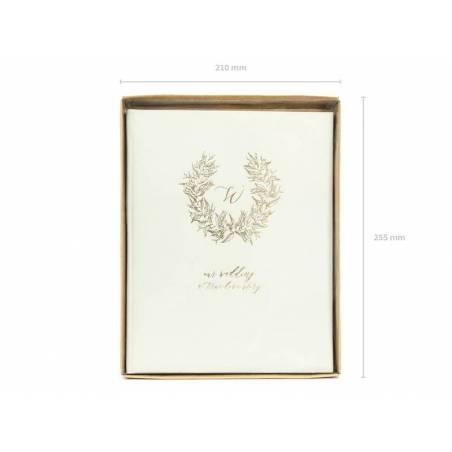 Couronne de livre d'or 20x245cm gris clair 22 pages