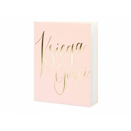 Livre d'or Księga gości 20x24.5cm rose poudré 22 pages
