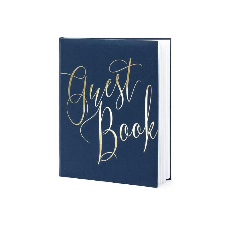 Livre d'or 20x245cm bleu marine 22 pages