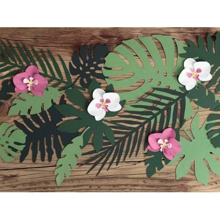 Décorations en papier Aloha - Orchidées