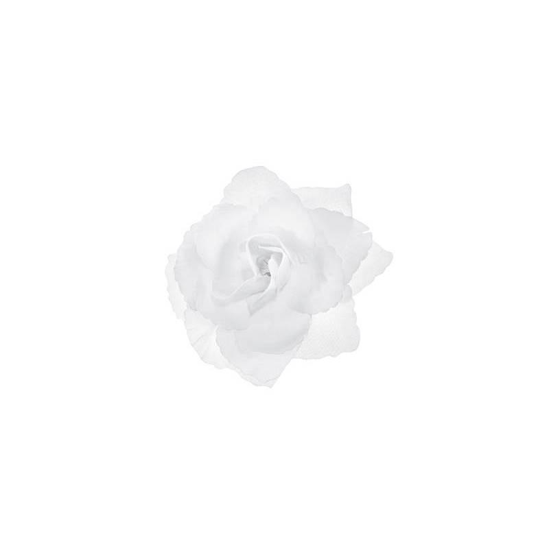 Roses autocollantes blanches 9cm