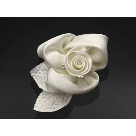 Roses avec ventouses crème 65 cm