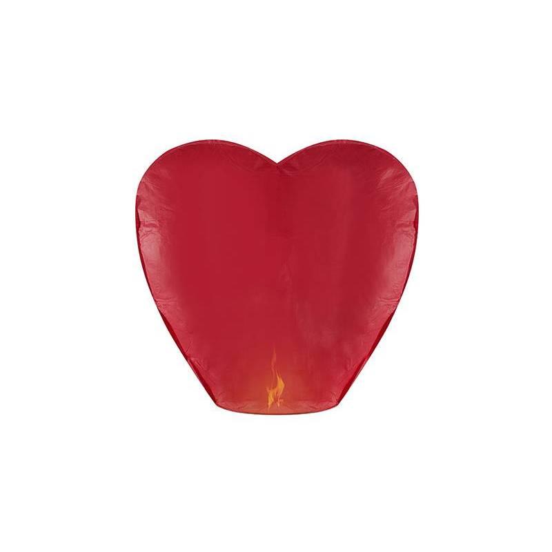 Lanterne céleste Coeur rouge 33 x 83 x 90cm