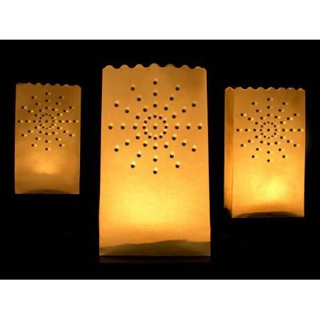 Lanternes sacs à bougies 15 x 9 x 26 cm