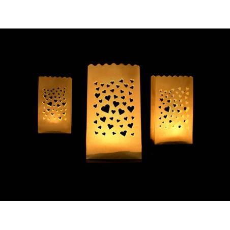 Lanternes sacs à bougies 115 x 7 x 19 cm