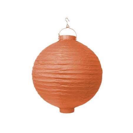 Lanterne en papier orange 20cm