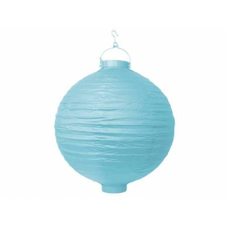 Lanterne en papier bleu ciel 20cm