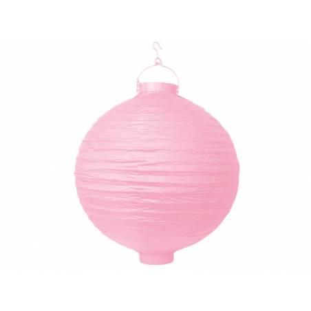 Lanterne en papier rose 20cm