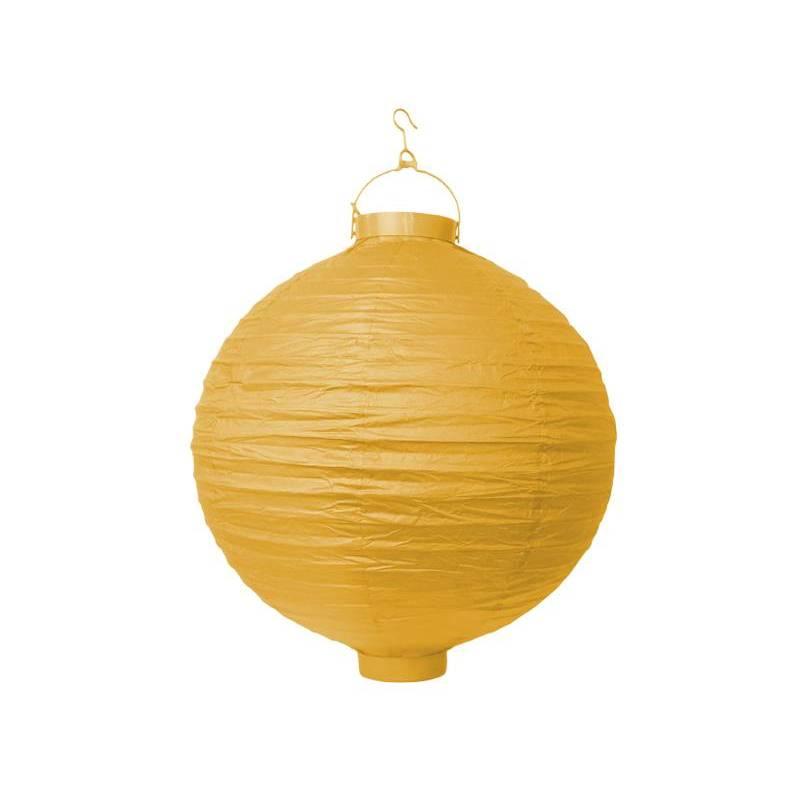 Lanterne en papier jaune 20cm