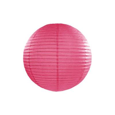 Lanterne en papier rose vif 20cm