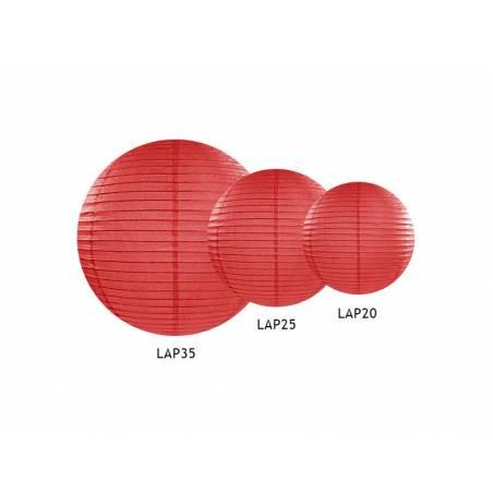Lanterne en papier rouge 20cm