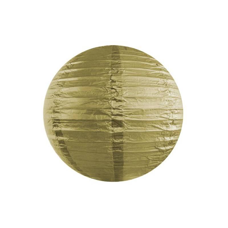Lanterne en papier or 20cm