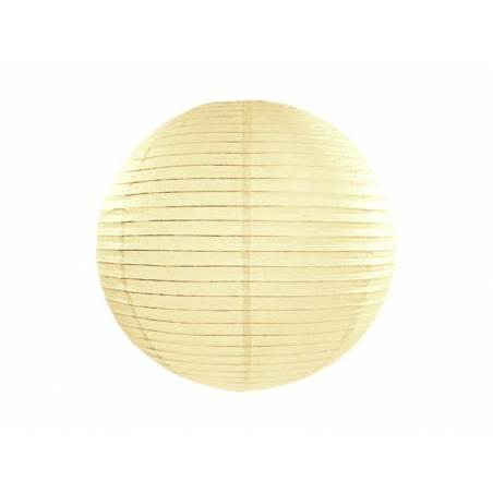 Lanterne en papier crème 20cm