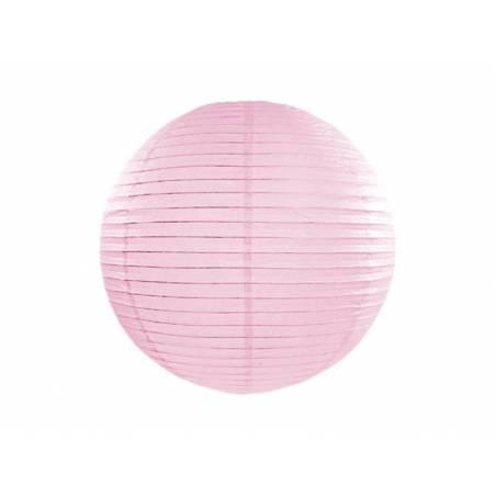 Lanterne en papier rose clair 20cm